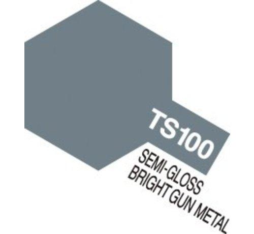 TAM - Tamiya 865- 85100 TS-100 Semi-Gloss Bright Gun Metal 100ml Spray Can