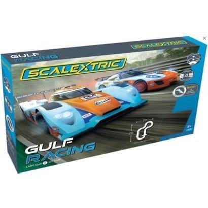 SSR-Scalextric C1384T Slotcar Set 1/32 GULF RACING  - LMP GULF V GT GULF