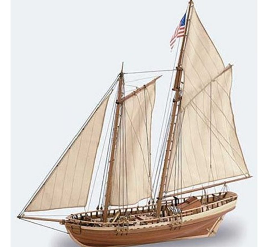 22135 Virginia American Schooner 1/41 Model Ship Kit