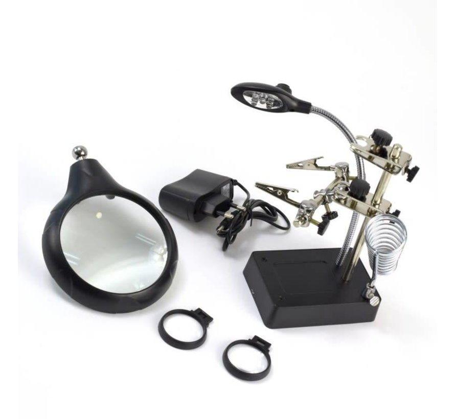27022-3 Magnifier w/5 LED Lights