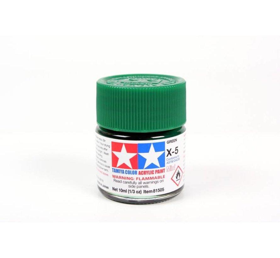 81505 Acrylic Mini X5  Green