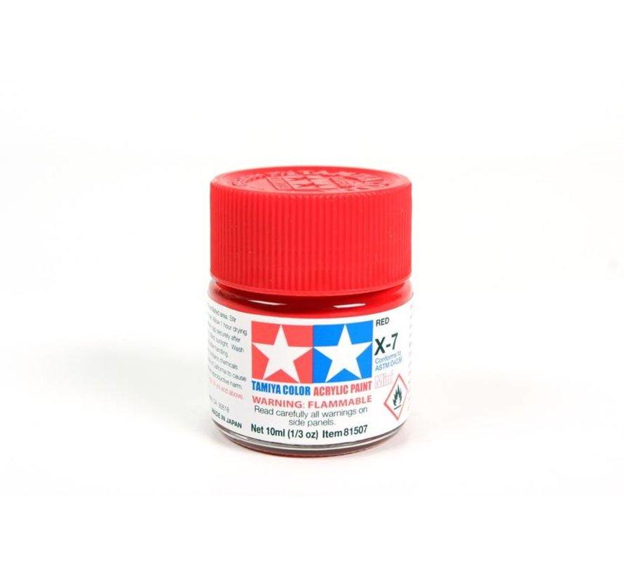 81507 Acrylic Mini X7  Red