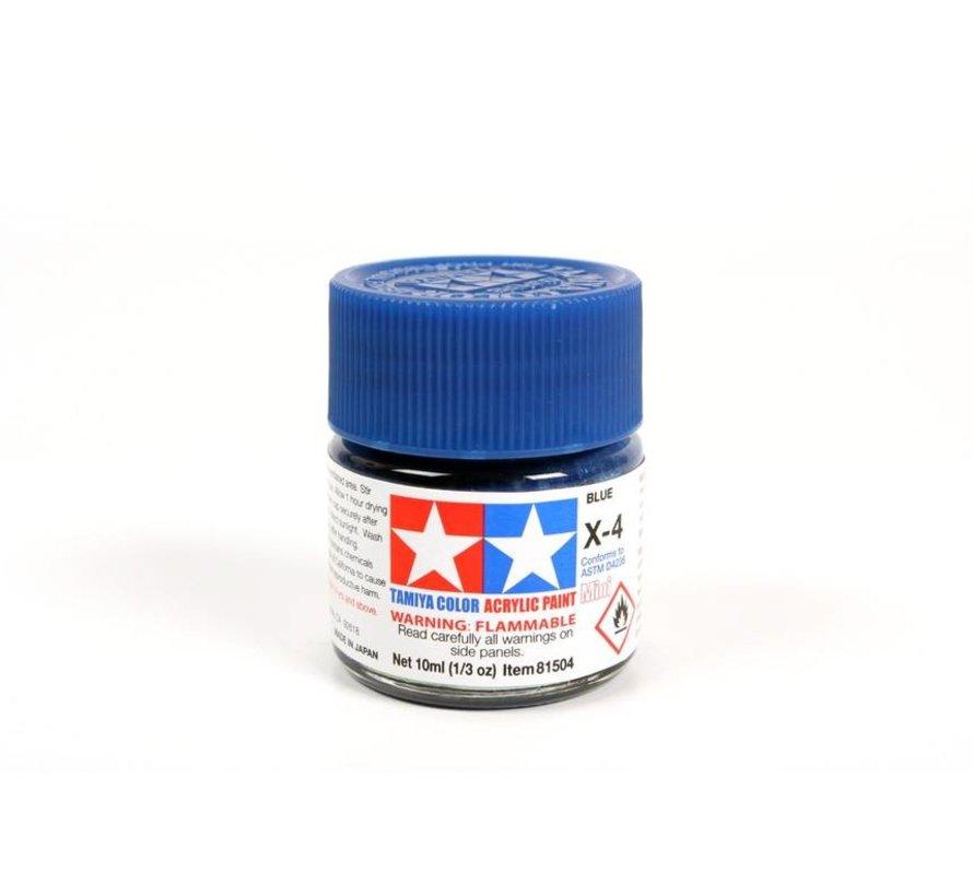 81504 Acrylic Mini X4 Blue 1/3 oz
