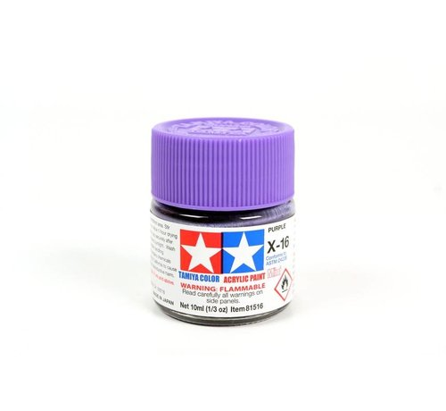 TAM - Tamiya 865- 81516 Acrylic Mini X16 Purple 1/3 oz