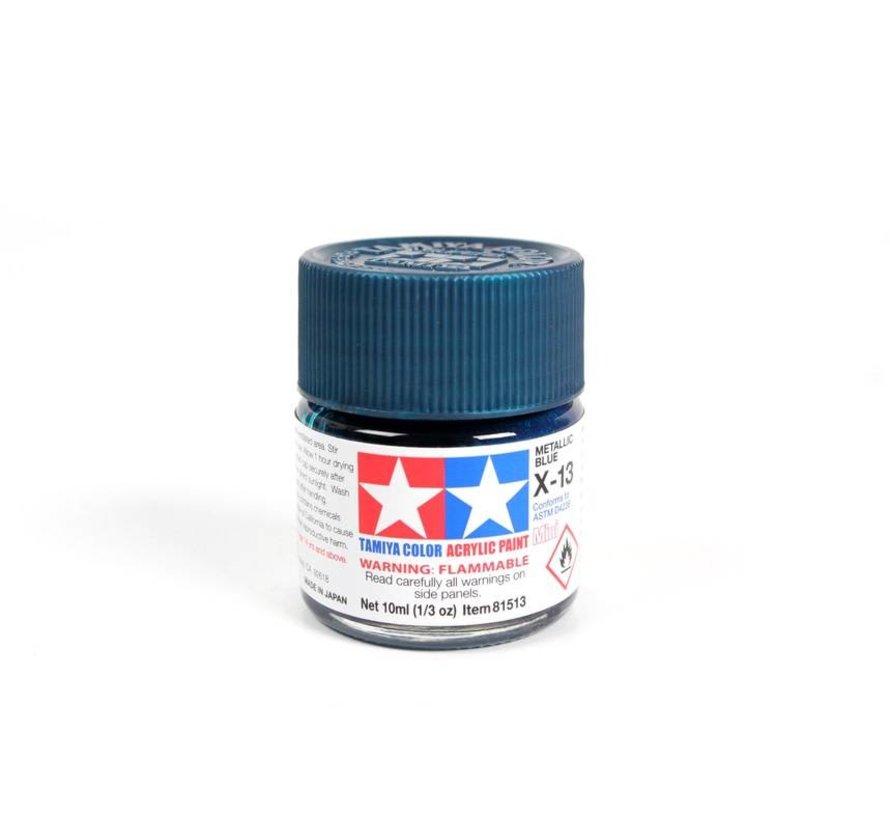 81513 Acrylic Mini X13 Metallic Blue 1/3 oz