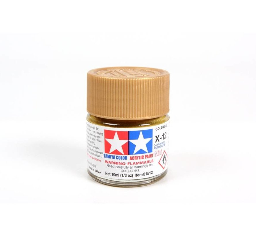 81512 Acrylic Mini X12  Gold Leaf *