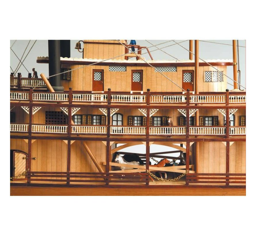 20505 Mississippi Paddle Wheel Steam Boat Kit 1/80