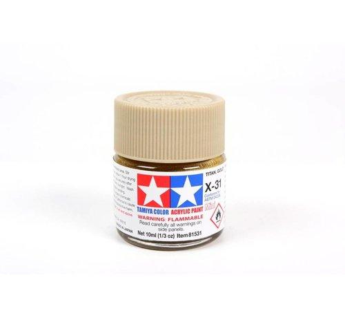 Tamiya (TAM) 865- 81531 Acrylic Mini X31 Titanium Gold
