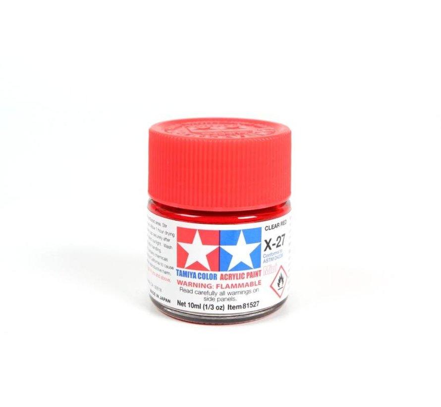 81527 Acrylic Mini X27 Clear Red 1/3 oz *