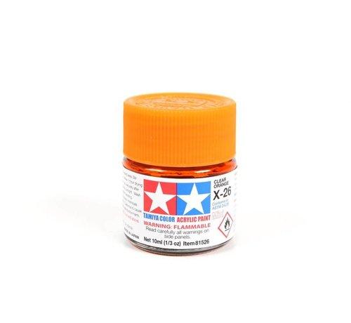 TAM - Tamiya 865- 81526 Acrylic Mini X26 Clear Orange 1/3 oz