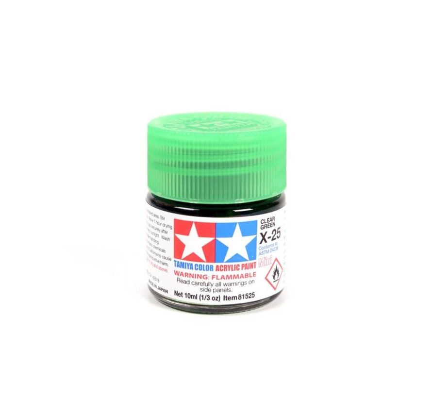 81525 Acrylic Mini X25  Clear Green