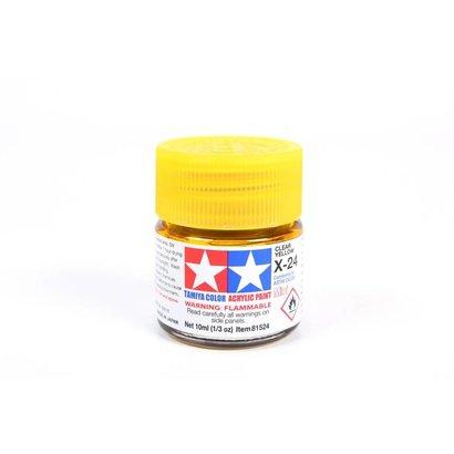 TAM - Tamiya 865- 81524 Acrylic Mini X24  Clear Yellow