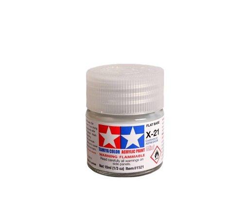 Tamiya (TAM) 865- 81521 Acrylic Mini X21  Flat Base
