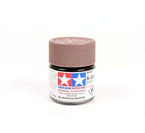 TAM - Tamiya 865- 81533 Acrylic Mini X33 Bronze 1/3 oz