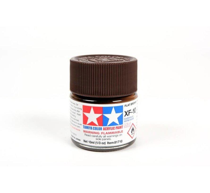 81710 Acrylic Mini XF10 Flat Brown