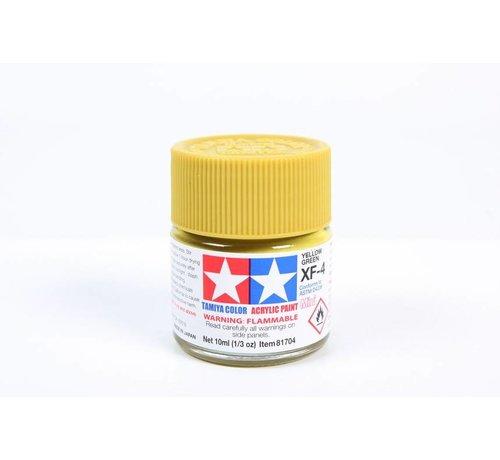 TAM - Tamiya 865- 81704 Acrylic Mini XF4 Yellow Green