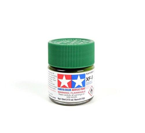 TAM - Tamiya 865- 81705 Acrylic Mini XF5 Flat Green