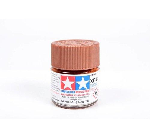 TAM - Tamiya 865- 81706 Acrylic Mini XF6 Copper 1/3 oz