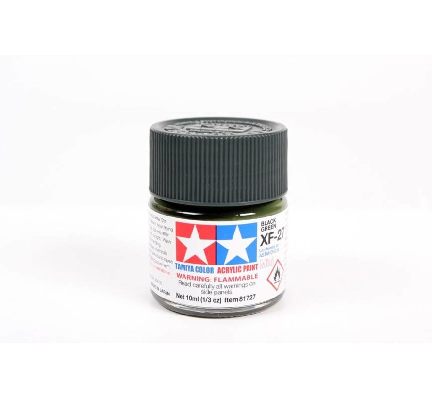 81727 Acrylic Mini XF27 Black Green 1/3 oz