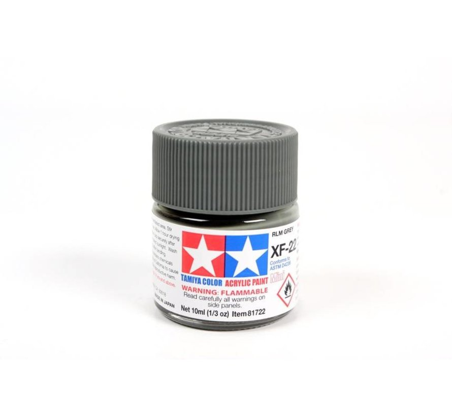 81722 Acrylic Mini XF22 RLM Gray 1/3 oz