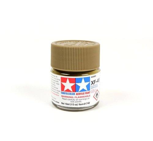 TAM - Tamiya 865- 81749 Acrylic Mini XF49  Khaki