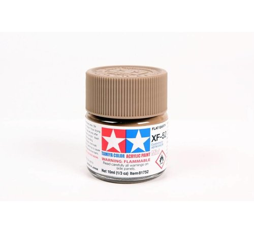 Tamiya (TAM) 865- 81752 Acrylic Mini XF52  Flat Earth