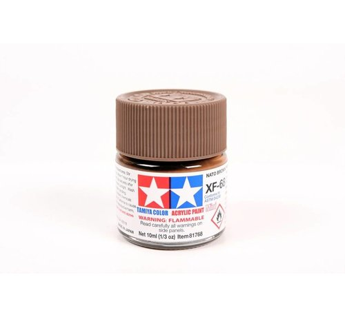 Tamiya (TAM) 865- 81768 Acrylic Mini XF68 NATO Brown