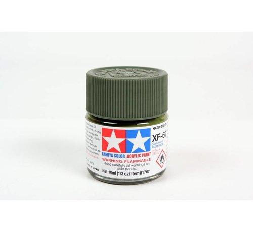 Tamiya (TAM) 865- 81767 Acrylic Mini XF67 NATO Green