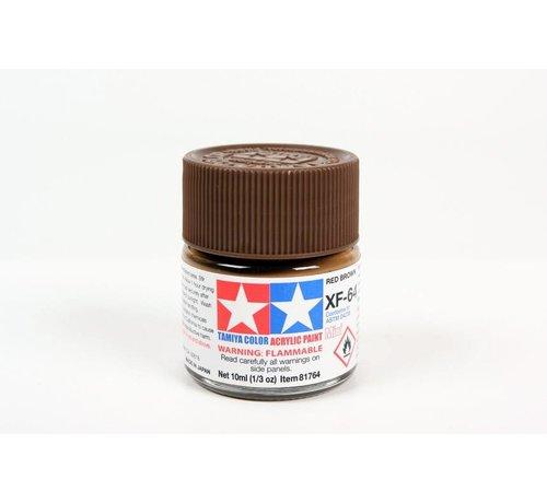 Tamiya (TAM) 865- 81764 Acrylic Mini XF64 Red Brown