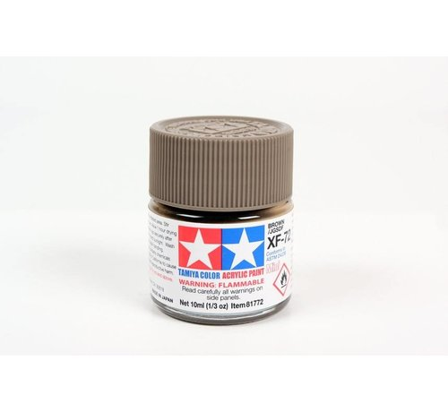 TAM - Tamiya 865- 81772 Acrylix Mini XF72  Brown 10ml