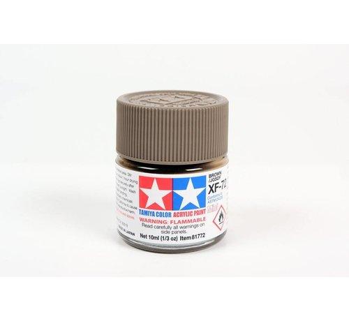 Tamiya (TAM) 865- 81772 Acrylix Mini XF72  Brown 10ml