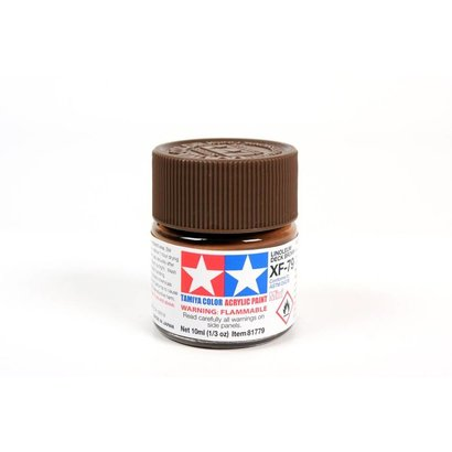 TAM - Tamiya 865- 81779 Acrylic Mini XF79  Linoleum Deck Brown 1/3 oz