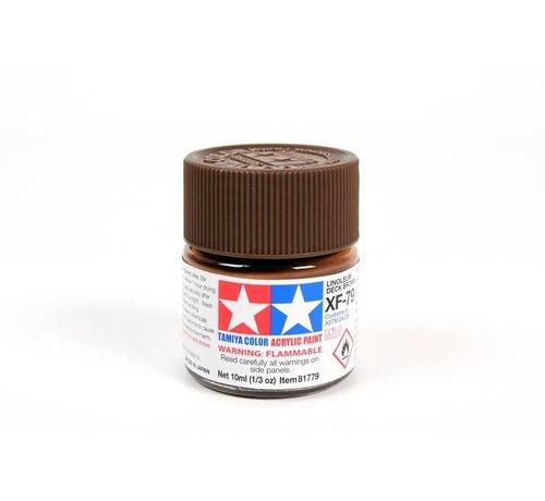 Tamiya (TAM) 865- 81779 Acrylic Mini XF79  Linoleum Deck Brown 1/3 oz