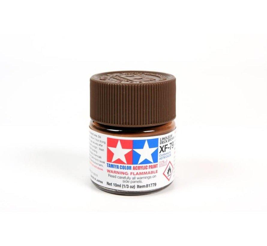 81779 Acrylic Mini XF79  Linoleum Deck Brown 1/3 oz