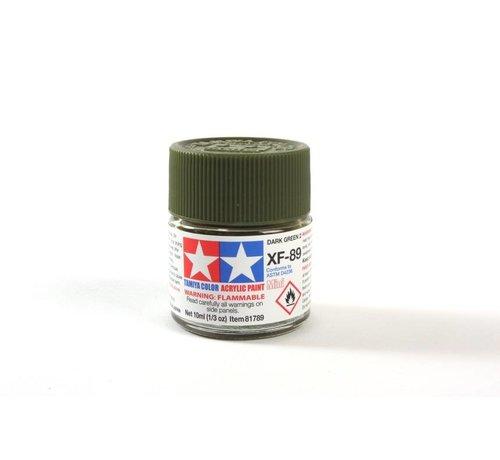 Tamiya (TAM) 865- 81789 Acrylic Mini XF-89 Dark Green 2, 10ml Bottle