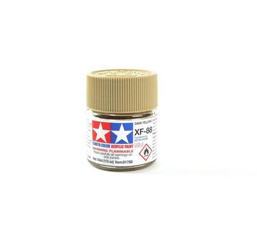 TAM - Tamiya 865- 81788 Acrylic Mini XF-88 Dark Yellow 2, 10ml Bottle