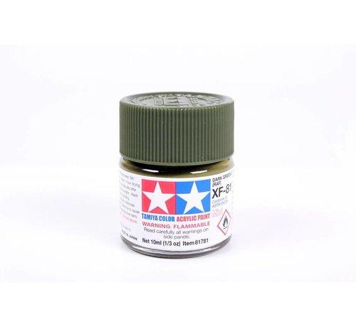 TAM - Tamiya 865- 81781 Acrylic Mini XF81 Dark Green 2 RAF 1/3 oz *