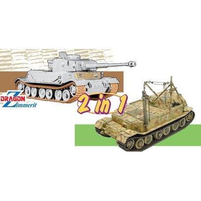 DML - Dragon Models 6869 Panzerkampfwagen VI(P) / Bergepanzer Tiger(P) - (2 in 1) 1/35