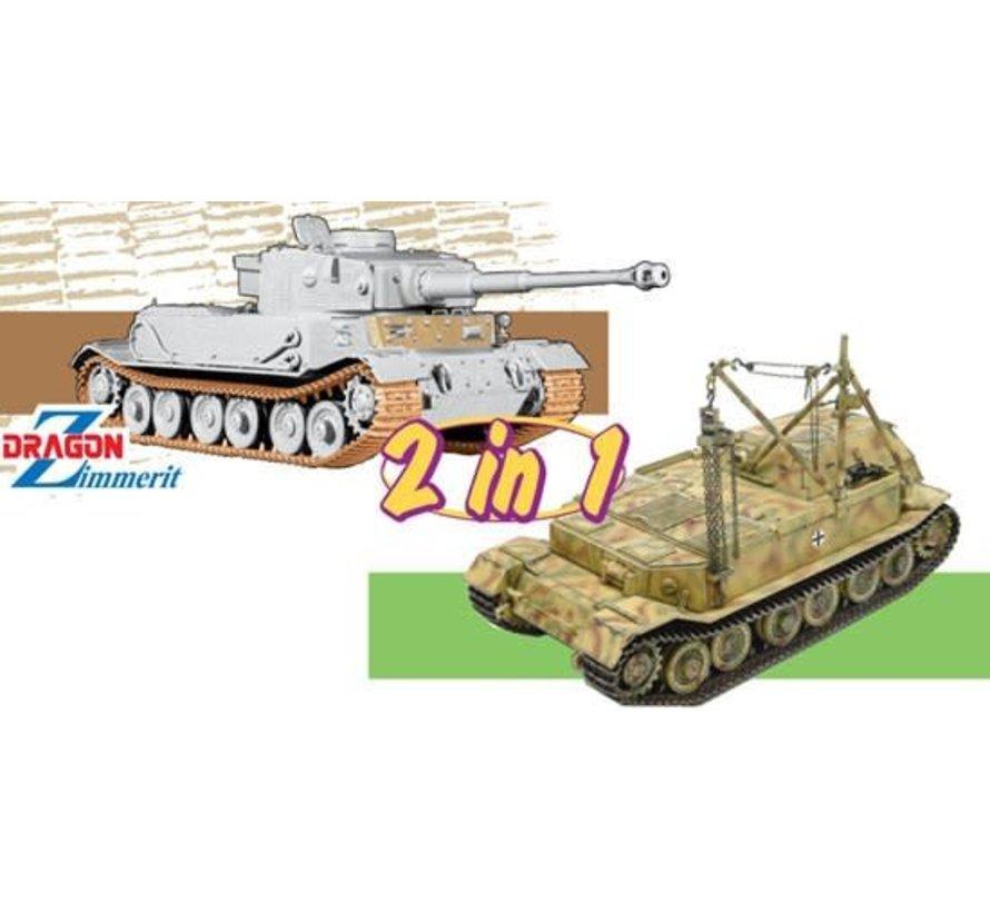 6869 Panzerkampfwagen VI(P) / Bergepanzer Tiger(P) - (2 in 1) 1/35