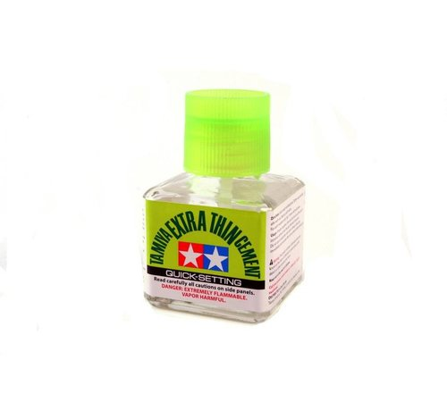 TAM - Tamiya 865- 87182 Extra-Thin Cement 40ml, Quick-Setting
