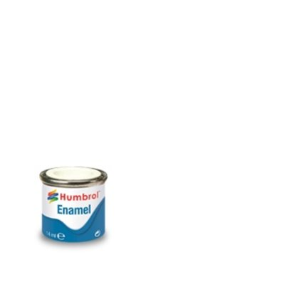 HMB - HUMBROL AA0374 White Enamel, 14ML, Matt, Shade 034