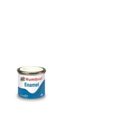 Humbrol - HMB AA0374 White Enamel, 14ML, Matt, Shade 034