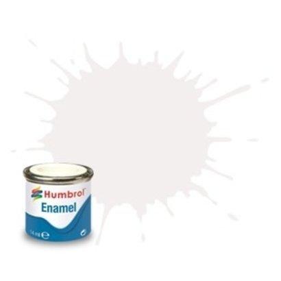 HMB - HUMBROL AA1434 - White - Enamel, 14ML, Satin, Shade 130