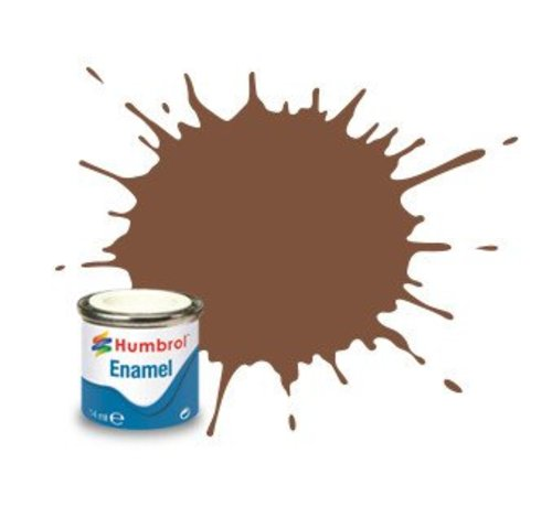Humbrol - HMB AA6224 Brown Enamel, 14ML, Matt, Shade 186