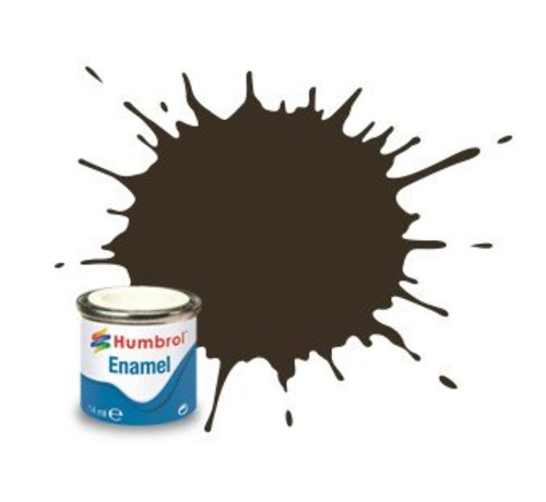 Humbrol - HMB AA0117 - Gloss, Service Brown - Enamel, 14ML, Gloss, Shade 010