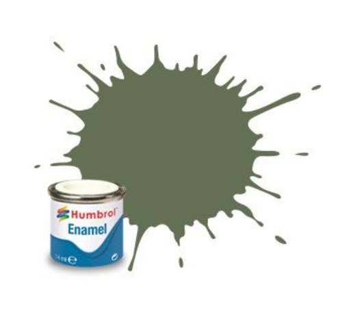 Humbrol - HMB AA1122 - Army Green - Enamel, 14ML, Matt, Shade 102