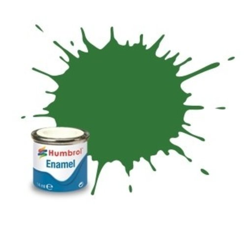 Humbrol - HMB AA1448 - Mid Green - Enamel, 14ML, Satin, Shade 131