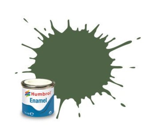Humbrol - HMB AA1290 - US Light Green - Enamel, 14ML, Matt, Shade 117