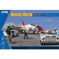 KIN - Kinetic Models USN Deck + T-45 Goshawk and 3 GSE 1/48