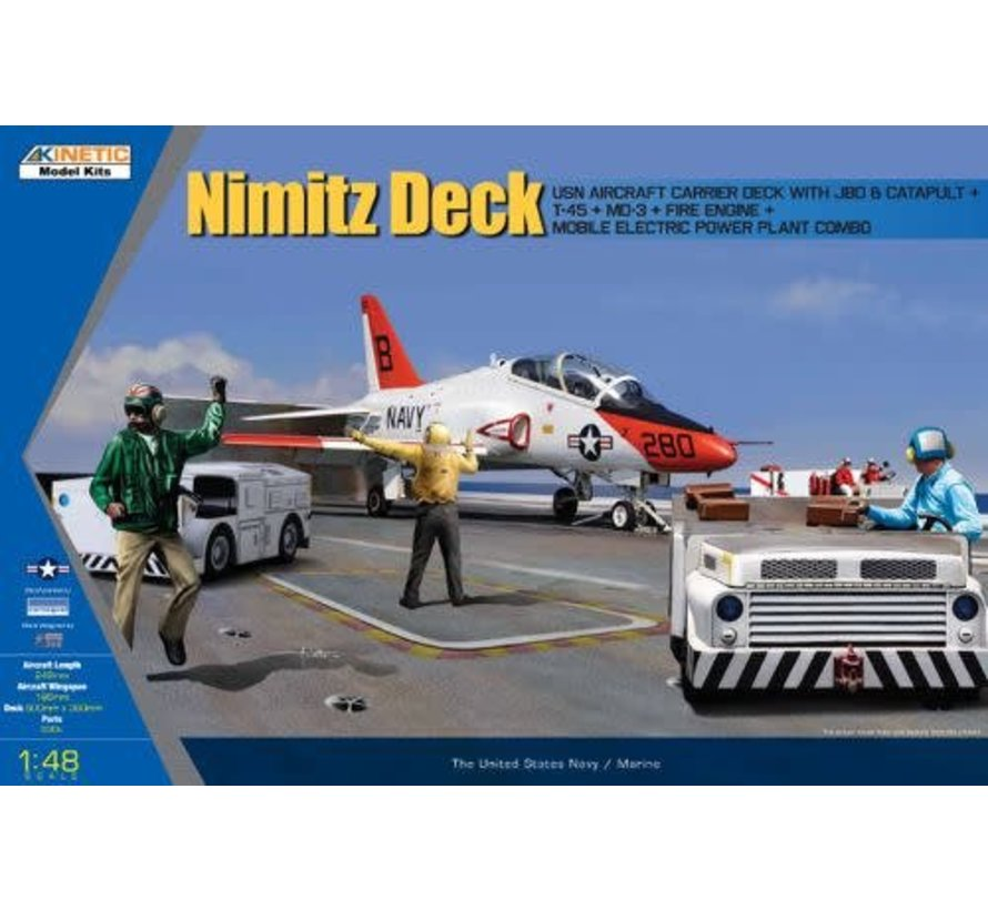 48057 Kinetic Models USN Deck and T-45 Goshawk and 3 GSE : 1.  1/48 Ca